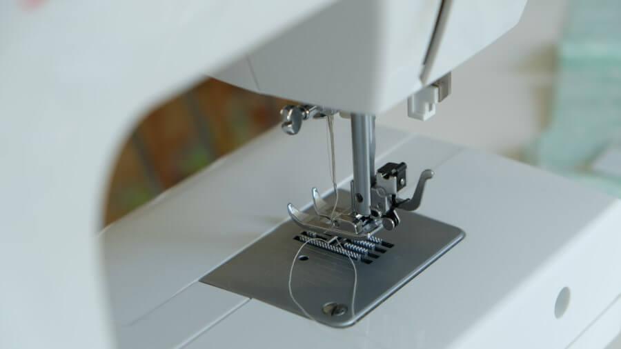 sewing machine up close